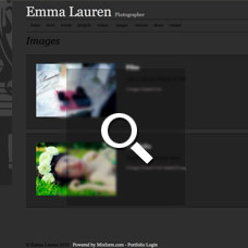 Emma Lauren - Photographer websites by Mixform