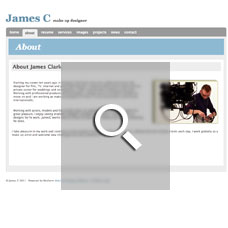 James Clark - Make-Up Artist websites by Mixform