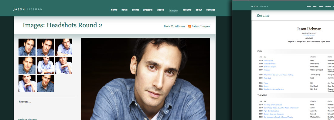 examples of actor websites and actor portfolios