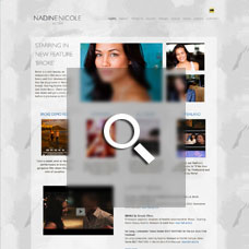 Nadine Nicole - Actor websites by Mixform