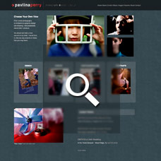 Pavlina Perry - Photographer websites by Mixform